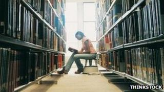 Woman in library. Pic: Thinkstock