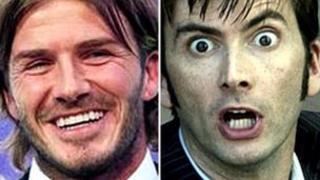 David Beckham and David Tennant