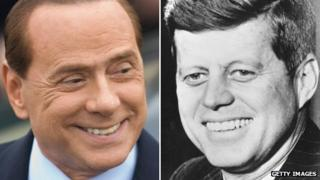 Silvio Berlusconi and John F Kennedy