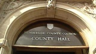Humberside County Council sign