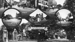 Postcard of Worksop