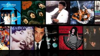 A selection of number one albums