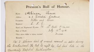 Roll of honour forms