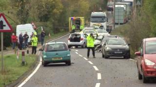 Crash on A21 near Lamberhurst