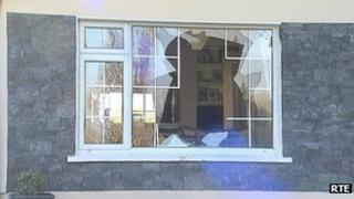 It's alleged the gang smashed their way in through the front window of the house in Killenaule
