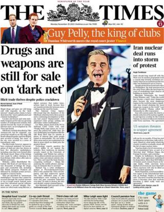 Times front page 25/11/13