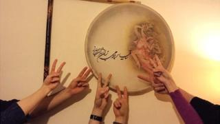 Iranians celebrating results of nuclear negotiations