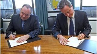 Alex Salmond a David Cameron