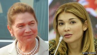 Tatyana Karimova (l) and her daughter Gulnara