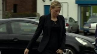 Natasha Foster seen entering court at an earlier appearance