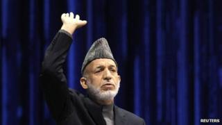Afghan President Hamid Karzai speaks during the last day of the , in Kabul November 24, 2013