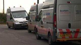 Southern Gas vans in Lytchett Matravers