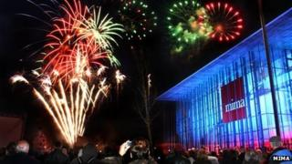 Fireworks at mima. Photo: mima