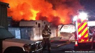 Fire at Croft Farm