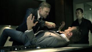 Kris Johnson, Glen Fox and Tom Carey in Who Needs Enemies