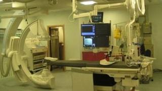 A cardiac theatre at Royal Berkshire Hospital