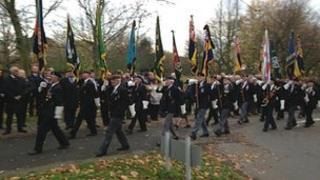 Funeral of war veteran Frederick Leach