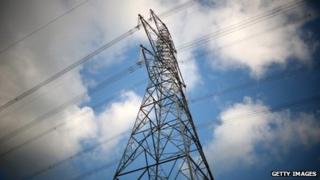 An electricity pylon