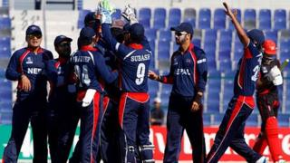Nepal cricket team in Abu Dhabi