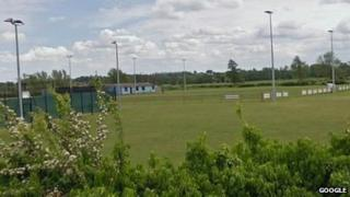 Bungay Town's Maltings Meadow pitch