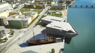 An artist's impression of what Dundee waterfront could look like
