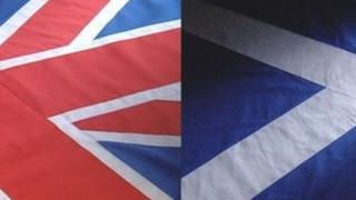 Union Jack and Scottish Saltire