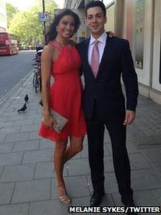 Melanie Sykes and Jack Cockings