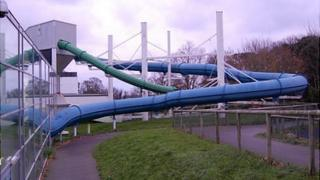 Flumes at Beau Sejour leisure centre in Guernsey
