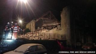 Collapsed chapel in Launceston