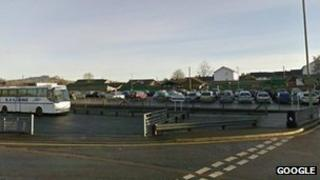 The cattle market car park in Honiton