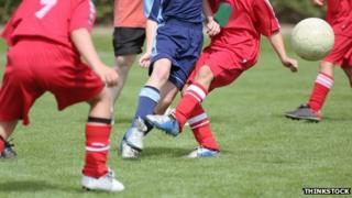 Children's football match