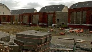 Unfinished housing estate