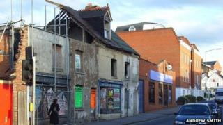 Derelict building, Southampton Street, Reading