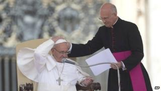 Pope Francis and Monsignor Xuereb