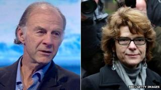 Sir Ranulph Fiennes and Vicky Pryce