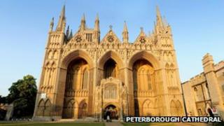 West entrance to Peterborough Cathedral