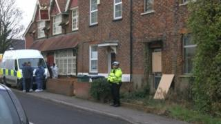 Police outside Littlemore house