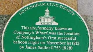 balloon flight plaque