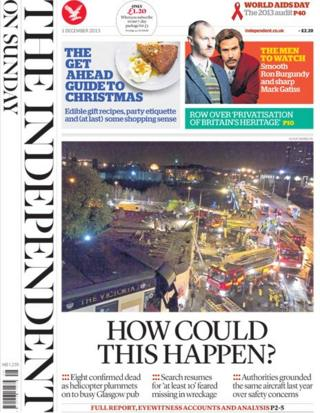 Independent front page 1/12/13