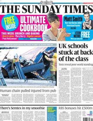 Sunday Times front page 1/12/13