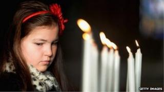 Girl at Glasgow Cathedral Service