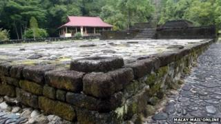 A temple ruin in Bujang Valley