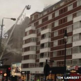 Fire in Tottenham Court Road