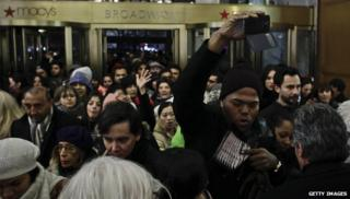 Consumers storming Macy's