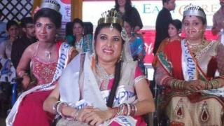 Nennu Kewlani (centre) Gopika Anand (right) and Divya Arora were the winners of the first Miss Wheelchair India contest