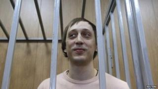 Pavel Dmitrichenko in court in Moscow, 3 December