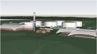 An architect's impression of the planned power station