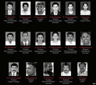 Names and photos of ACF staff killed in Sri Lanka (image from ACF report)