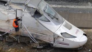 File picture of Santiago train crash