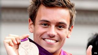 Tom Daley with his Olympic bronze medal